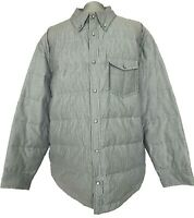 NEW, BROOKS BROTHERS MEN'S LIGHT GRAY STRIPED DOWN SHIRT JACKET, XL, $345