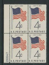 USA - 1960, 4c Red & Blue, USA State Flag Block of 4 - M/m - SG 1152