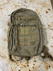 5.11 Tactical Military Backpack RUSH12 Molle Bag Rucksack Pack 24 Sandstone