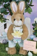 "Bearington Collection 14"" Petey & Peeps Spring or Easter Bunny Rabbit"