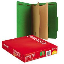 UNIVERSAL Pressboard Classification Folders Letter Six-Section Emerald Green 10