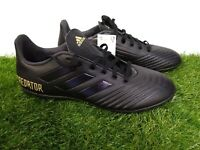 🔥 Adidas Predator 19.4 Mens Turf Casual Soccer Cleats - Black 🔥