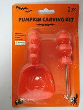6 Pc Pumpkin Jack O Lantern Pumpkin Carving Kit 4 Stencils Scoop Carving Knife