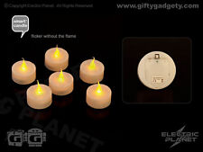 Smart Candle Safe Flame Battery-Powered Flickering LED Tealights (Pack of 6)