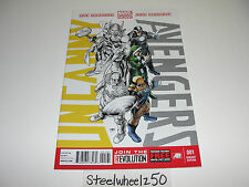 Uncanny Avengers #1 Marvel Comics 2012 X-Men Team Variant Yellow Side Sketch Now