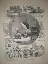 Paris Electrical Exhibition prints 1881