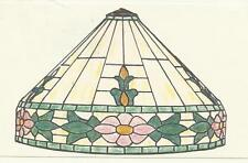 Worden Lamp Pattern Floral Border Stained Glass Supplies Pattern Sc20-7