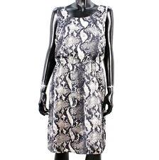 LIU JO Damen Gr 46 LUXE Kleid Elegant Rock Dress Freizeitkleid Grau Beige A2512