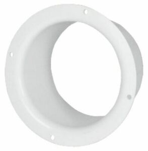 100/125/150mm Diameter White Plastic Ventilation Ducting Pipe Wall Plate Spigot