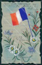 Propaganda WWI Francia France Flag cartolina XF8313