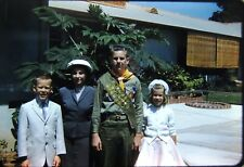 1960 Boy Eagle Scout in Uniform Teen Lot of 3 Kodachrome Photo Red Border Slides