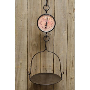 Hanging Primitive Scale Rustic Kitchen Decor Vintage General Store Style
