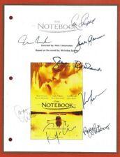 THE NOTEBOOK SCRIPT SIGNED 8x RACHEL McADAMS  RYAN GOSLING  KEVIN CONNOLLY