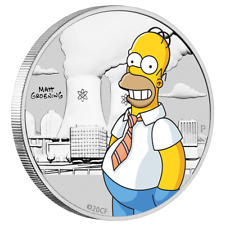 Tuvalu Perth Mint Die Simpsons™ Homer Simpson™ 0,5 oz Farbe 999 Silber Blister
