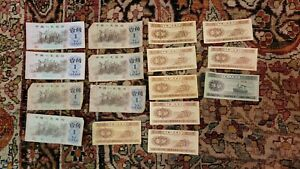 Lot of (16) Assorted 1953 + 1962 CHINA Notes Bills 1 YI Jiao Collectors Starter