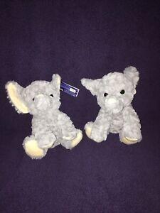 (2) Kellytoy Elephant Plush Stuffed Animal New Brand