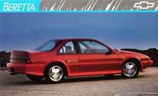 Old Print. Red 1989 Chevrolet Beretta GTU Auto Ad