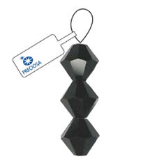 3mm Czech Preciosa Crystal Bicone Jet Loose Beads 36 Beads