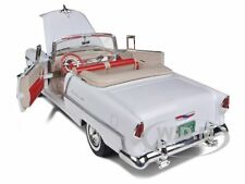 1955 CHEVROLET BEL AIR CONVERTIBLE WHITE SOFT TOP 1/18 MODEL CAR MOTORMAX 73184