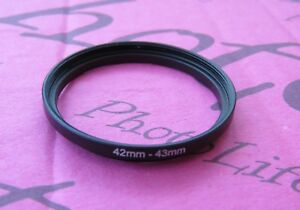 42mm to 43mm Stepping Step Up Filter Ring Adapter 42mm-43mm