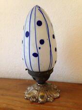 très ancienne lampe plafonnier applique avec superbe globe en verre de murano