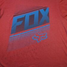 FOX MX MOTOCROSS RACING TEE T SHIRT Sz Mens L Red / Soft Style