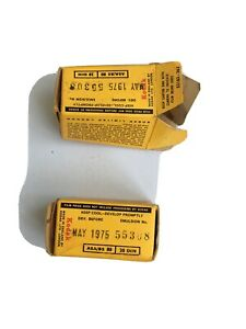 1x Kodacolor X - CX 120 Colour Print Film - Date Expired 1975 + 1 emptied box