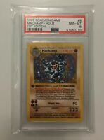 1999 Pokemon Base Set Shadowless Machamp Holo 1st Edition PSA 8 NM - MT #8/102