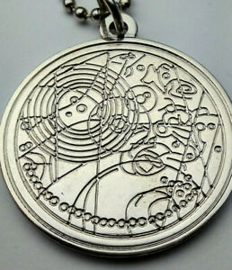 Doctor Who Metal Gallifreyan Necklace With Fob Watch Chameleon Arch Design
