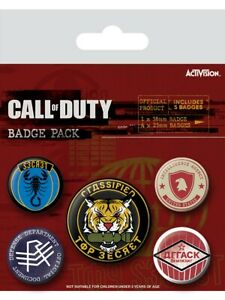Call of Duty Black Ops Abzeichen-set 10x12.5cm