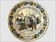 Delfts vier jaargetijden | Delft four seasons plates