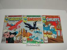 Smurfs #1-3 Comic Lot Marvel 1982 2 COMPLETE Cartoon Gargamel Papa Smurfette HTF