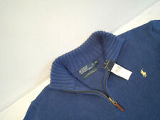 NEW Ralph Lauren Men's Zip Pullover Shirt Size XL Knit Polo Sweater Top w/ Pony