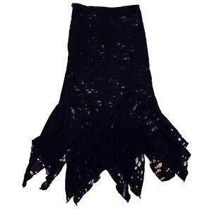 Shrine Gothic Horror Zombie 80s Black Mad Max Vampire Fabric Vampirika Skirt XL