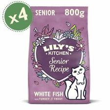 Lily's Kitchen (4 x 800g) Fish & Turkey - Grain Free Senior Cat Dry Food