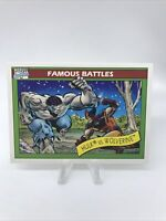 1990 Marvel Comics Impel Famous Battles Hulk Vs Wolverine #113 Mint PSA Ready