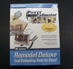 Adams Power Estimator: Remodel Deluxe Excel Cost Estimating Suite ALB505SW