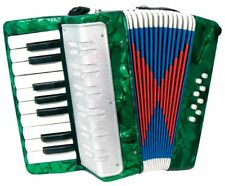 Green CHILD'S ACCORDION. 17 Key Kids' Accordian,  Easy & Fun! From Hobgoblin