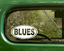 2 BLUES MUSIC STICKERs Oval Decal Vinyl Truck Bumper Car Laptop Window