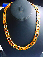 Real LOOKING  22k Gold plated necklace Chain  THICK MENS CHAIN fat Mr T style
