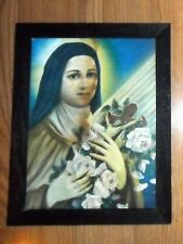 ANTIQUE PRINT SAINT THERESE OF LISEUX , ST MICHAEL'S CHURCH NEW JERSEY