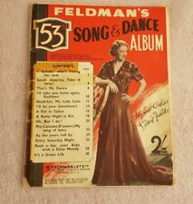 Vintage Piano Music Sheet - Feldman's 53rd  - Song and dance album
