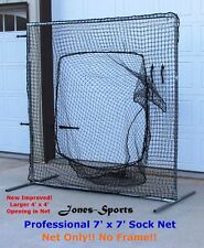Replacement Sock Net 7' x 7' #42 twine 60PLY Baseball/Softball Practice NO FRAME