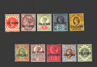 Zululand - SG# 1 - 10 MH/ MLH (1/ pencil on back)   /   Lot 1119333