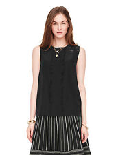 NWT kate spade new york pleated silk top 14 $198