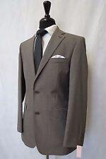 Men's Scott By The Label Brown Pinstripe 2 Piece Suit 38R W32 L29 CC5880