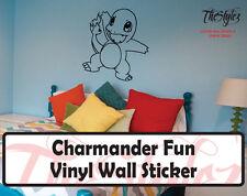 Pokemon Charmander Fun Custom Wall Vinyl Sticker