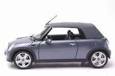 BMW Mini Cooper Cabrio model in scale 1:18 gray