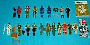 GI JOE Action Figure Collection ALL ORIGINAL ARAH 1980's 90's ONE OWNER Vintage