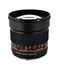 Rokinon 85mm F1.4 Aspherical Lens for Pentax Digital SLR - New in Box!